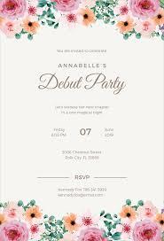 design templates for invitations 27 debut invitation templates psd ai vector eps free