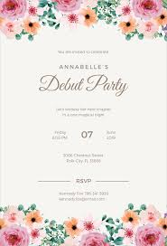 formal debut invitation ilrator template details file format
