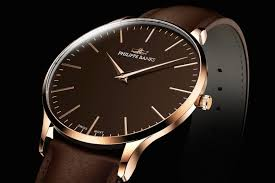 slimline 40 rose gold with sapphire glass and swiss movement