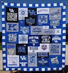 Six Details That Make a T-shirt Quilt Look Extraordinary & University_of_Kentucky tee shirt quilt Adamdwight.com