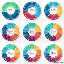 Vector Graphs And Charts Vector Business Pie Chart Templates Set For Graphs Charts