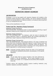 Sample Resume For Respiratory Therapist Awesome Occupational Therapy