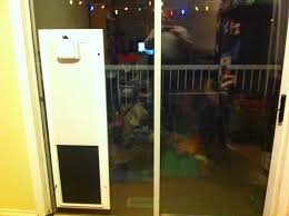 image of concept sliding glass pet door