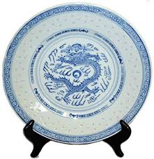 Patterned Dinnerware Extraordinary Amazon Traditional Dragon Blue And White Rice Grain Patterned