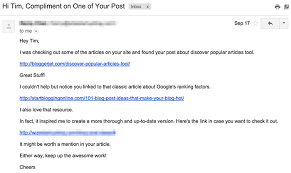 Backlink Email net Request Camisonline Template