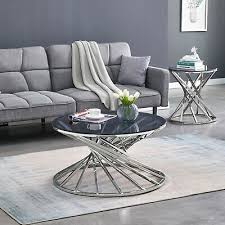 round glass coffee table side tables