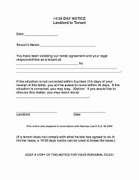 30 day notice to landlord template lovely free resume format day notice letter to landlord