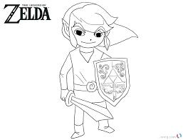 Legend Of Zelda Link Coloring Pages Verfutbol