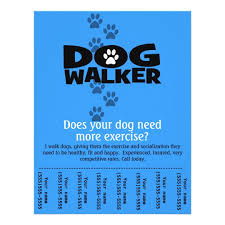 Dog Flyer Template Free Dog Walking Flyer Template Free Download Archives Tidee