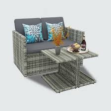4 piece outdoor sofa wicker sofa set
