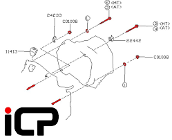 Subaru Impreza 92 00 Manual Gearbox Bell Housing Bolt Kit