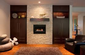 fireplace accent wall brick