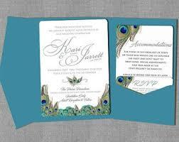 Peacock Invitations Peacock Wedding Invitations Etsy