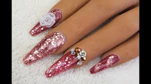 acrylic nails cranberry rose gold