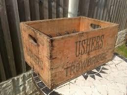 vintage wooden beer crate ushers trowbridge