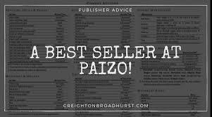 A Best Seller At Paizo Creighton Broadhurst