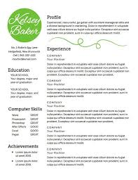 Simple Resume Format In Word Delectable Simple Resume Format In Word 60 Idiomax