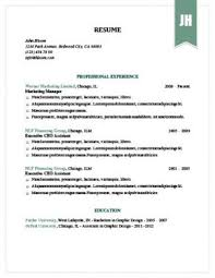 Chronological Resume Definition Format Layout 103 Examples