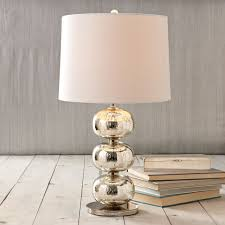 small mercury glass table lamp
