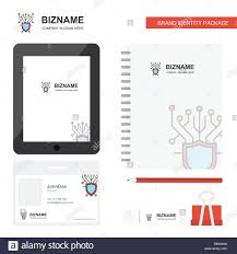Security Designer Cyber Security Business Logo Tab App Diary Pvc Employee