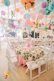 Kayla's Pink Flamingo Themed Party  Table centerpiece
