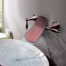 antique wall mounted waterfall bathroom sink faucets oil rubbed bronze smart idea mount