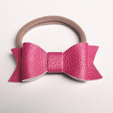 new pu leather hair bows 30pcs lot elastic hair bands shinning synthetic leather hair ties 15