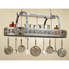 Hanging Oval Stainless Steel Flower Ornaments Kitchen Light With Pot Rack  For Kitchen Decorating