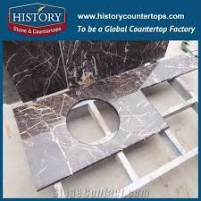 history stone hm067 china marron emperador most popular grade 1 custom made double edge laminated shaped luxury decoration indoor marble countertops