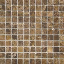 tumbled marble tile. 1x1 Emperador Dark Tumbled Marble Mosaic Tile R