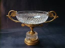gilt bronze crystal empire style comport
