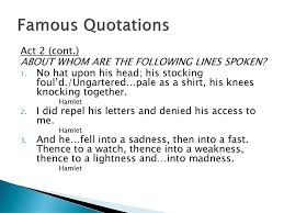 Famous Quotes From Hamlet