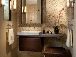 modern guest bathroom design. elegant small guest bathroom ideas with modern interior design as well floating sink vanity mirrored mounted cabinets attached mosaic