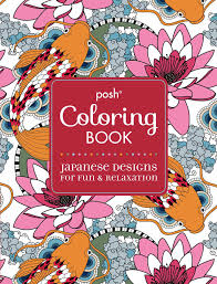 Amazon Com Posh Adult Coloring Book Japanese Designs For Fun