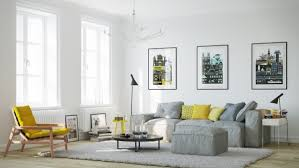 View in gallery A touch of greenery for your chic Scandinavian living room  [Design: Claudia Stephenson Interiors