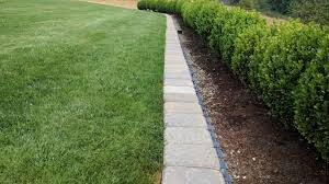 building a mow strip for your lawn