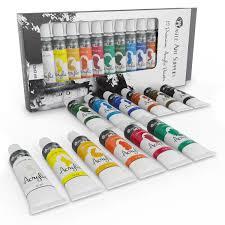 com castle art supplies acrylic paint set for beginners students or artists 12 x 12 millilitre s colors