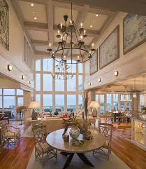 beach high ceiling recessed lighting style