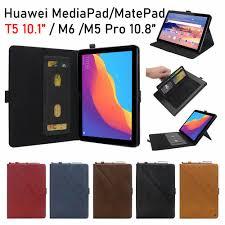 Bao Da Máy Tính Bảng Nắp Lật Có Ngăn Đựng Bút Cho Huawei Mediapad T5 10.1  Honor Pad 5 10.1 Matepad Pro 10.8 10.4 M6 M5 10.8 8.4 Inch Ốp tại Nước ngoài