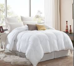 luxurious goose down alternative comforter 600 thread count egyptian cotton cover 750 fill power