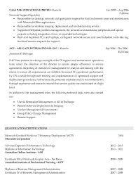 Resume Format For Desktop Support Engineer Desktop Engineer Resume Foodcity Me