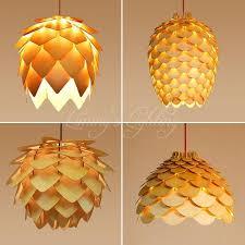 oak wooden pinecone pendant lights hanging wood ph artichoke lamps dinning room restaurant retro fixtures lighting nz 2019 from babaylon lighting
