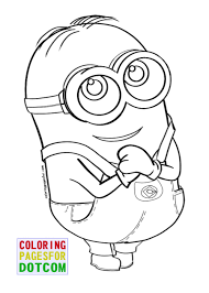Free Printable Minion Coloring Pages Free