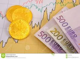 Gold Euro Chart Gold And Euro On Chart Stock Image Image Of Diagram 24184393