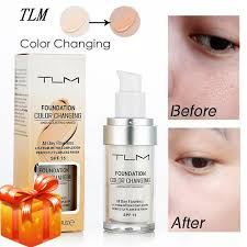 msia free gift ready stock 30ml tlm flawless color changing liquid foundation makeup