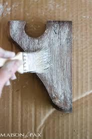 rustic finish on corbels maison de pax