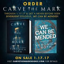 veronica roth is releasing a four focussed short story we can be mended as a part of promotions for her uping book carve the mark