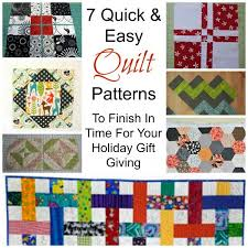 7 Quick & Easy Quilt Patterns – Quilting & easy Adamdwight.com