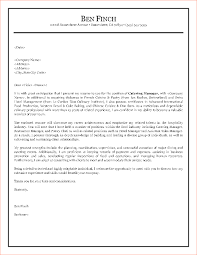 Cover Letter Example Hospitality Industry Eursto Com