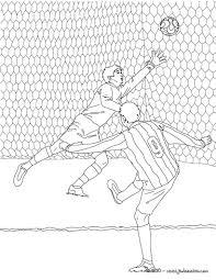 Coloriage D Un Match De Foot Avec Un But Dans Les Cages Un Joli
